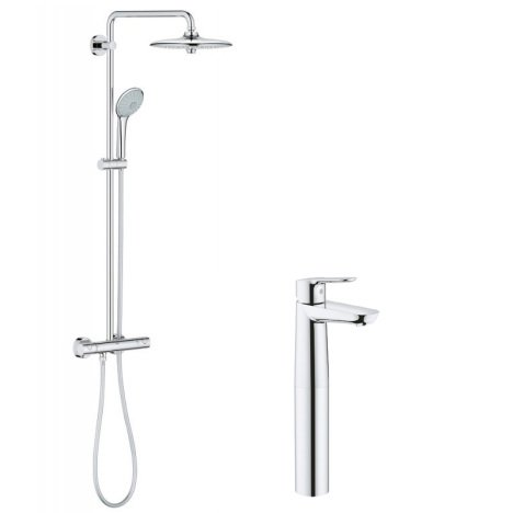 Pachet: Coloana dus Grohe Euphoria 260-27296002, Baterie lavoar blat Grohe BauEdge XL size-23761000